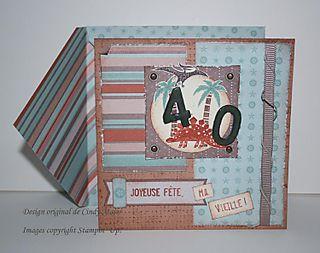 Carte 40 ans Nathalie