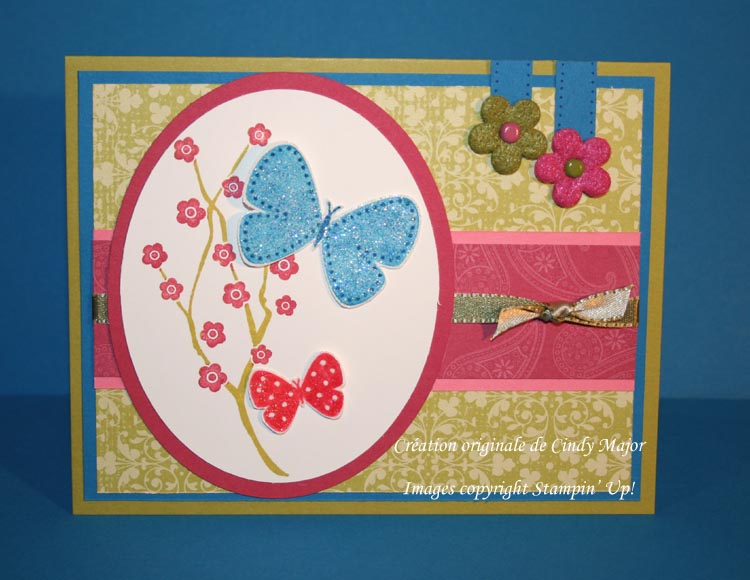 Papillon sur branche defi couleur Kristina