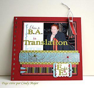 I have a BA in Translation