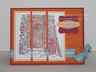 Carte Voeu des Fetes en trois panneaux