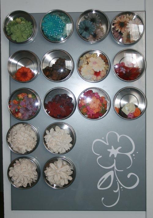 Decor Element Flower on Magnetic Board