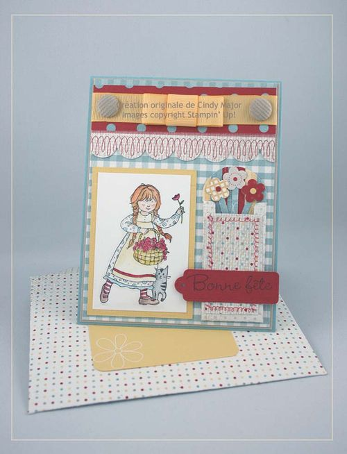 Carte SEPC4 - pochette fleurie