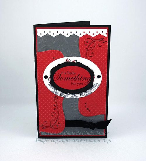 Carte A little something for you noir rouge blanc gris