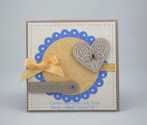 Coeur SAB safran et bleu ballet