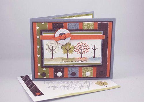 Carte Trendy Trees Quatre Saisons