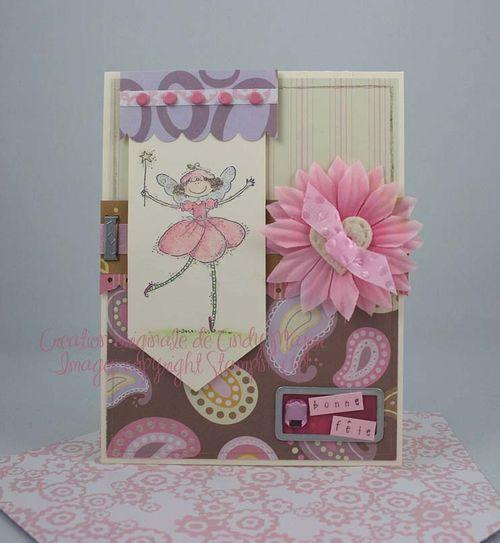 Fee rose anniversaire_carte niece Josee