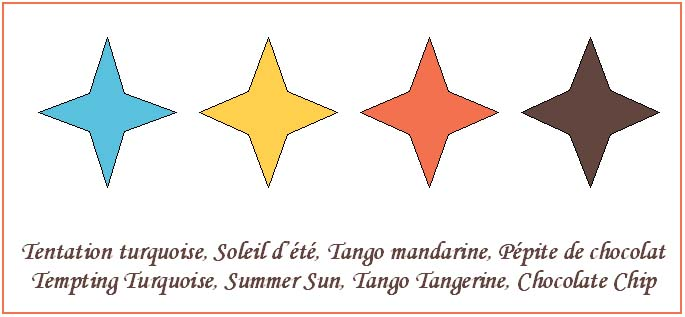 Turquoise Soleil Mandarine Chocolat