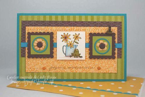 Carte bouquet ensoleille CCEPC6