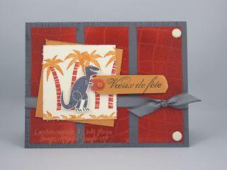 Carte faux alligator skin Prehistoric Pals