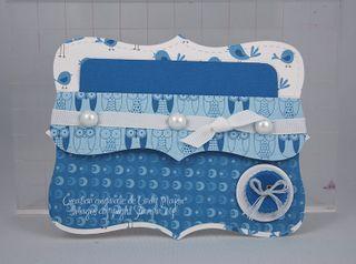 Carte pochette Au Top bleu et blanc