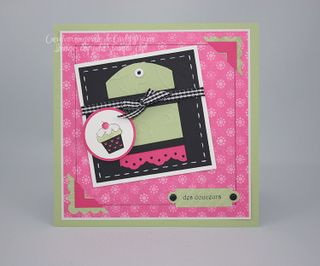 Cupcake rose noir blanc celeri