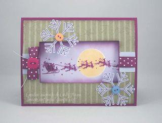 Carte fenetre Santa Sleigh
