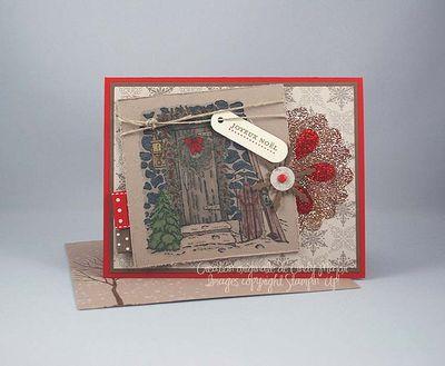 Carte Home for Christmas Flocon brillant