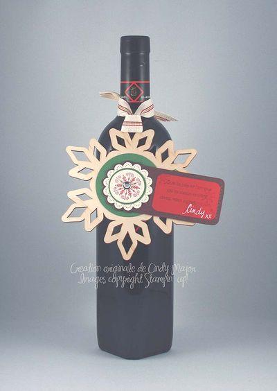 Bouteille de vin_etiquette flocon