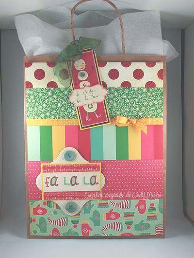Emballage cadeau Fa la la