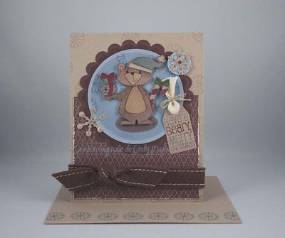 Beary Christmas Chocolate Blue Kraft