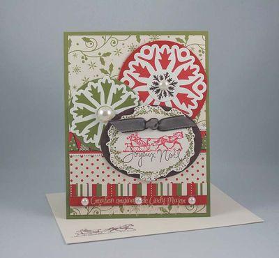 Carte Sleigh and Snowflakes Christmas Jingle