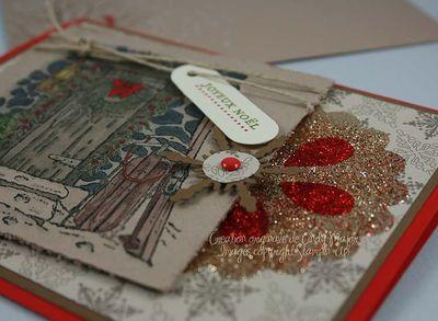 Carte Home for Christmas Flocon brillant_close up