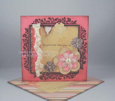 Carte Vintage Flower Frame