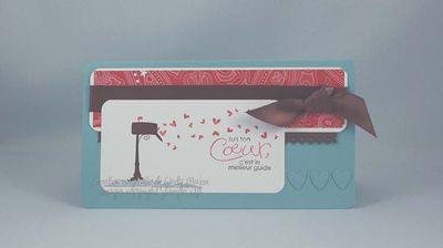 Carte boite postale coeurs