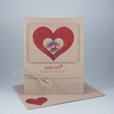 Carte Coeur brillants rouges Pour toi