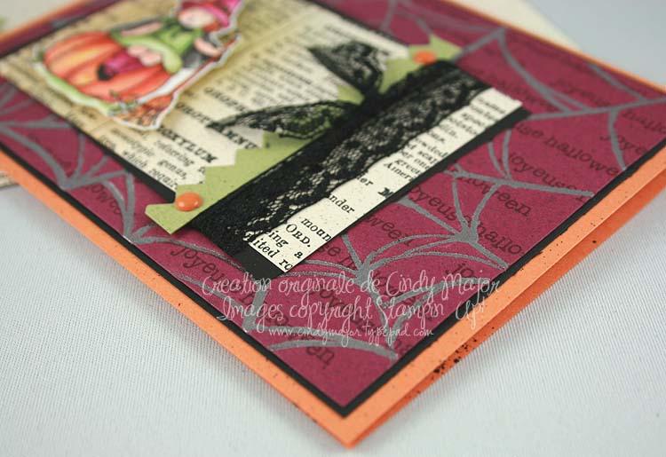 Carte Petite sorciere toile argent_close up
