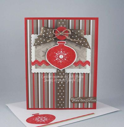 Carte Boule de Noel choco-Noel