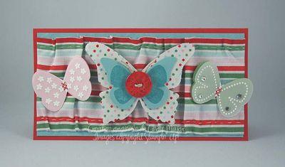 Carte Papillons de tissu