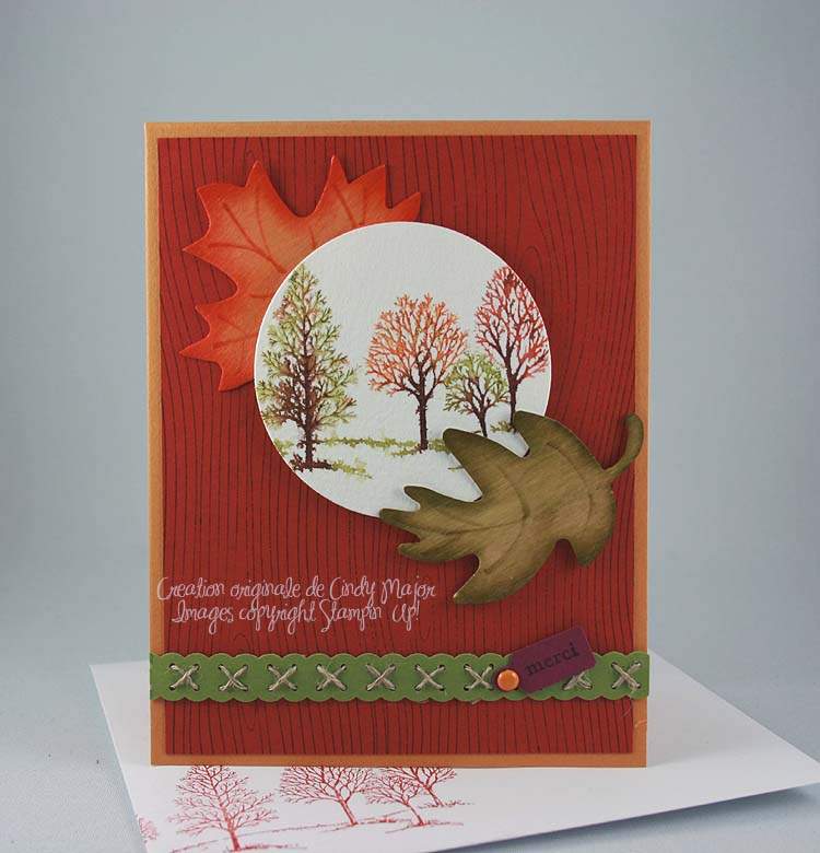 Carte arbres automne aquarelle diffuse