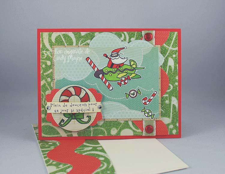 Carte Pere Noel distribution bonbons