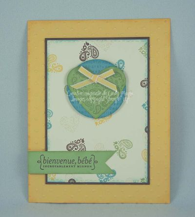 Paisley Peints Baby Card