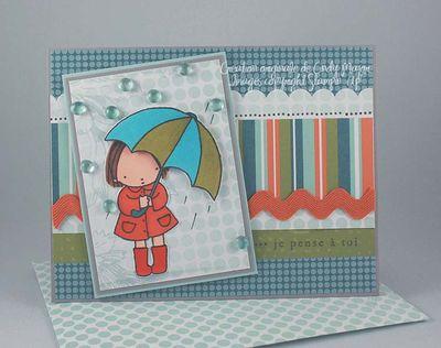 Carte Umbrella Girl Spring Break