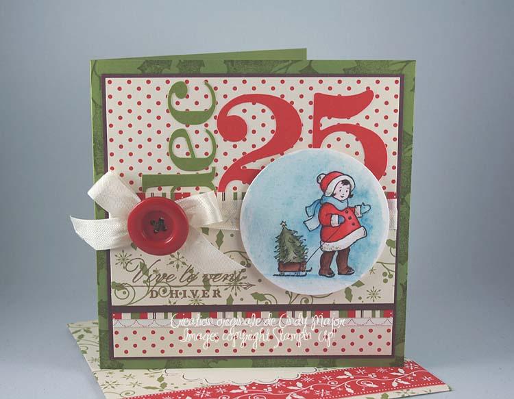 Carte Greeting Card Kids 25 decembre