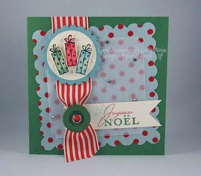 Carte Trois cadeaux tissu Vive le vent