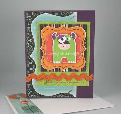 Carte Joyeux anniversaire petit monstre