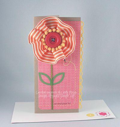 Carte Fleur en ruban mot pour toi