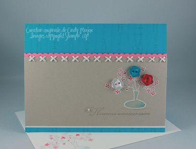 Carte Bouquet royal turquoise sahara