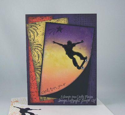 Carte Extreme Skateboarding etoile filante