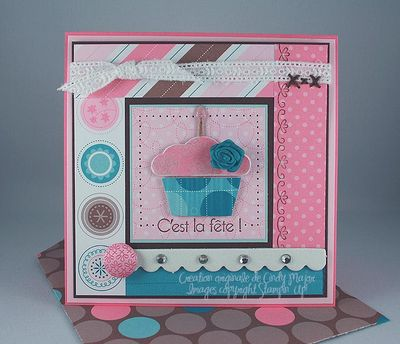 Carte Cupcake Mother of Pearl