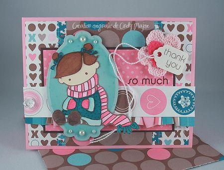 Carte Fillette foulard Love Ya