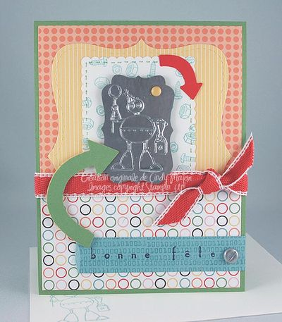 Carte Birthday Bot Faux Metal