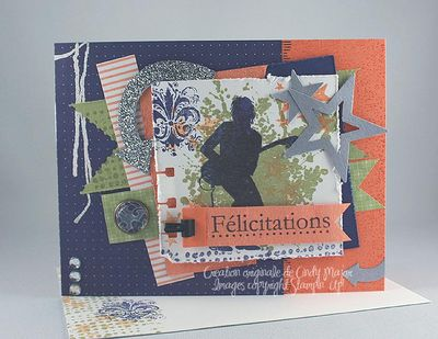 Carte Guitariste felicitations peche raisin saphir