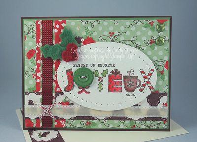 Carte Joyeux Noel Baie de houx