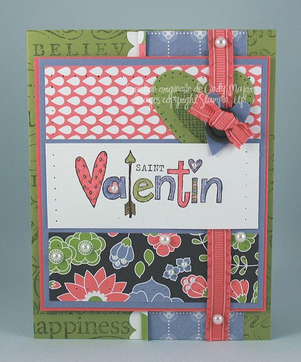 Carte St-Valentin trois panneaux
