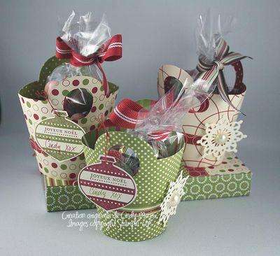 Paniers de bonbons Noel 2010