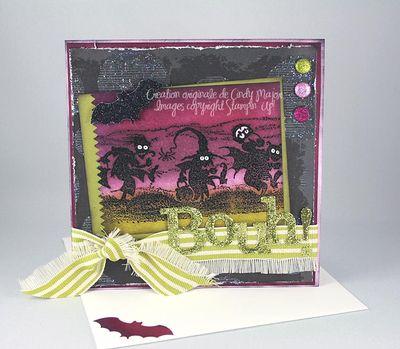 Carte Haunted Bouh brillant