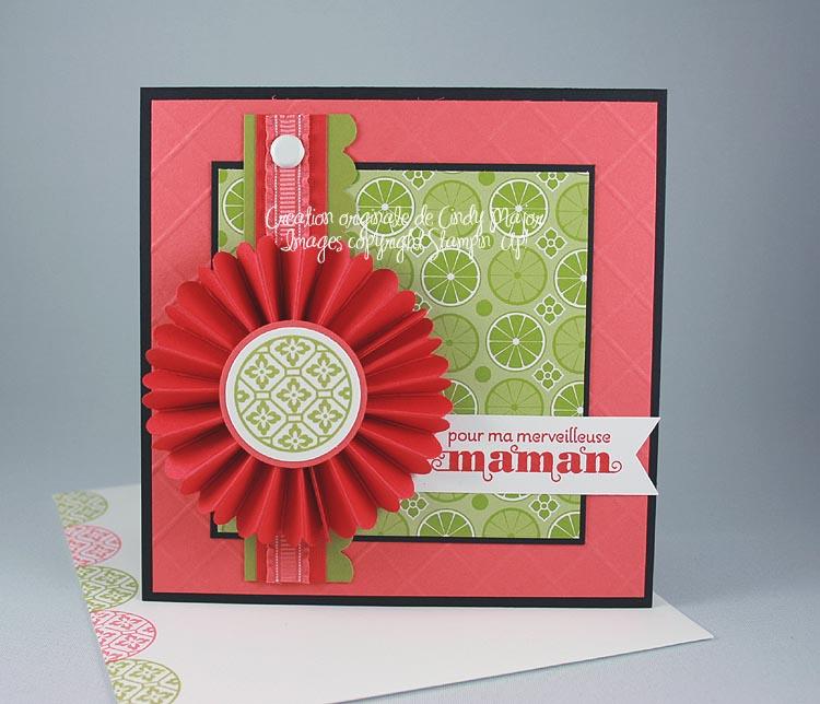 Carte Rosette pour maman