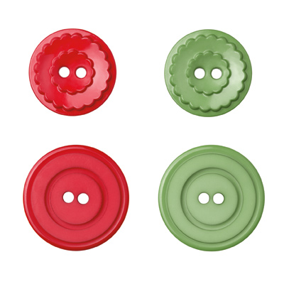 Holly Berry Bouquet buttons