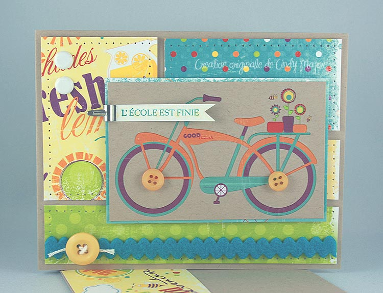 Carte Bicyclette Bo Bunny