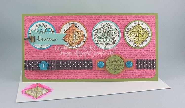 Carte Vive la nature quatre cercles